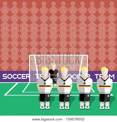 Germany Soccer Club On A Stadium
