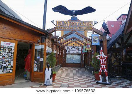 Souvenir shop in Ushuaia, Argentina