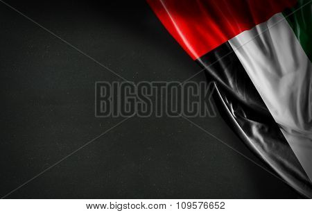 UAE flag on blackboard