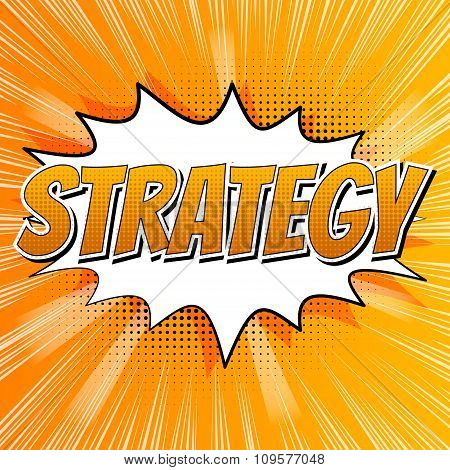 Strategy - Comic book style word