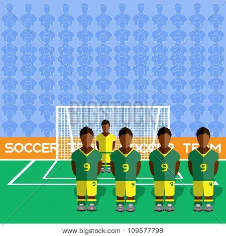South Africa Soccer Club On A Stadium