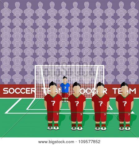 Portugal Soccer Club On A Stadium