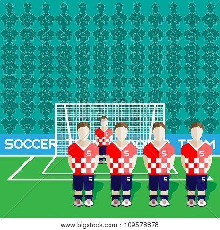 Croatia Soccer Club On A Stadium