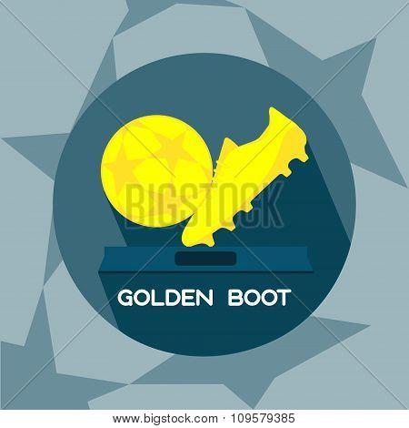 Golden Boot And Ball Soccer Reward