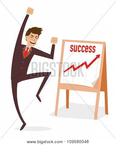 Businessman Jumping For Success