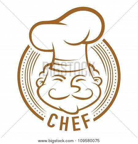 Chef With Mustache Symbol