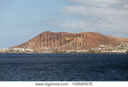 Playa Blanca on Lanzarote. Canary Island .Spain