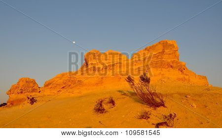 Pinnacle Desert Sand Hill with Moon