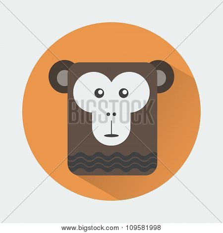 Chimp Baby Animal Icon