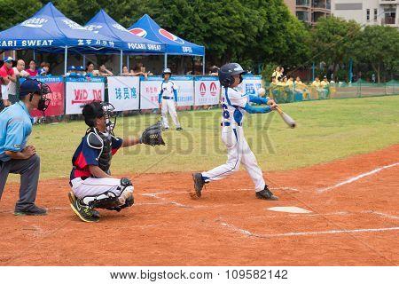Zhongshan Panda Cup, Zhongshan, Guangdong - July 23:batter Of Team Zhongshan Tongmao Primary School