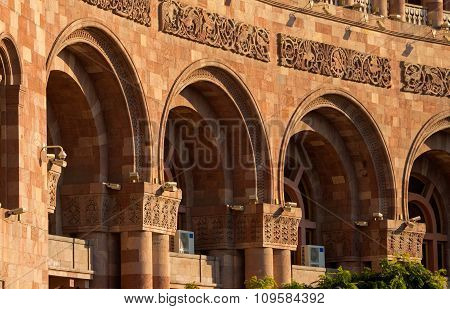 The Historic Center Of Yerevan Closeup