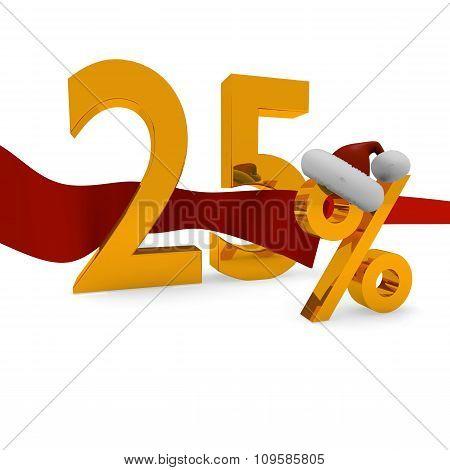 25 Percent Christmas Discount