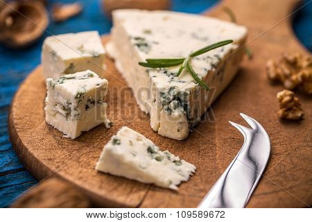 Slices Of Danish Blue Cheese