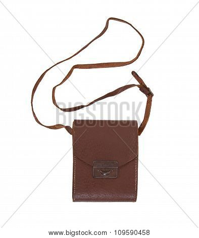 Old Brown Leather Bag Or Case