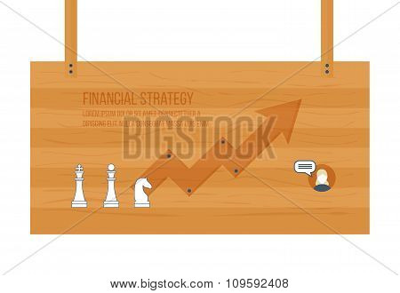 Financial report and strategy concept