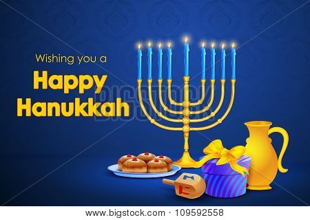 Israel festival Happy Hanukkah background