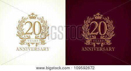 20 anniversary luxury logo.