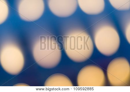 Dark Background With Oval Soft Bokeh Lights