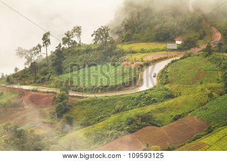 Road Routes On The Mountain