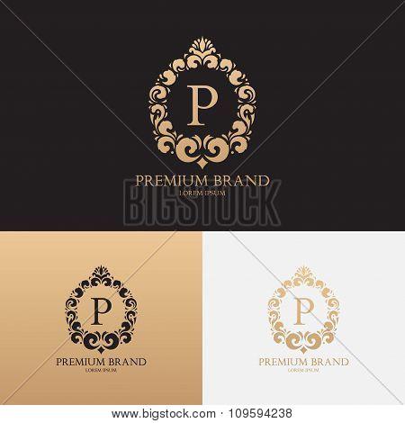Vector Template Of Logo Of Premium Brand