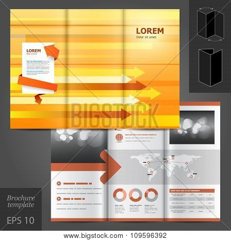 Orange Brochure Template Design
