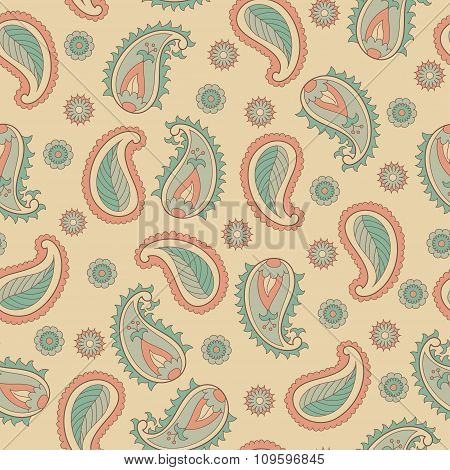 Retro seamless paisley pattern.
