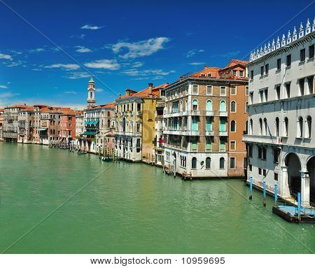 View From Bridge Ponte Di Rialto In Venice