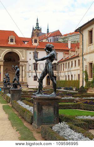Sculptures In Waldstein Garden, Prague, Czech Republic.