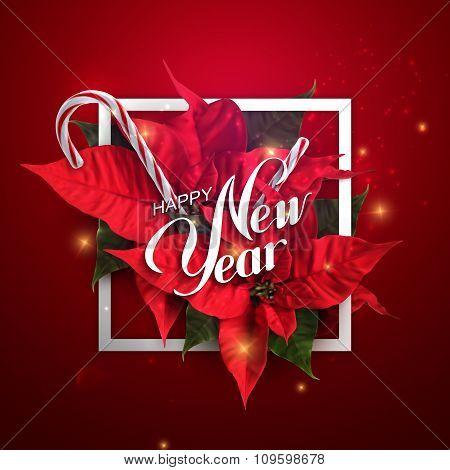 Happy New Year. Vector Holiday Illustration