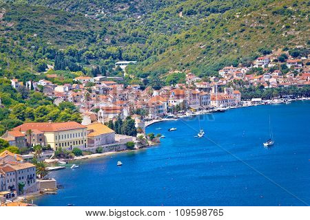 Town Of Vis Waterfront Aerial View