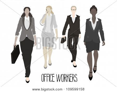 Business-ladies going forward