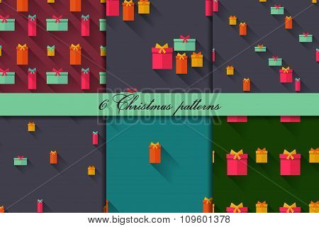 seamless patterns with gifts