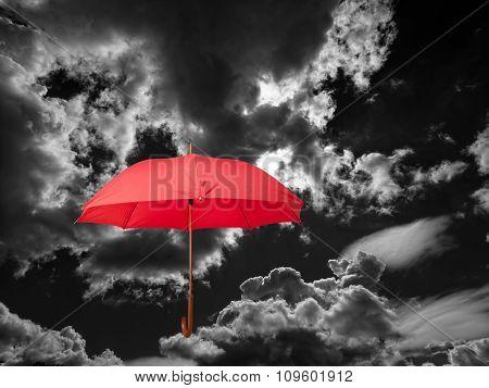 Umbrella And Clouds