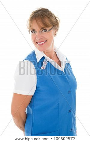 Portrait Of Happy Female Janitor