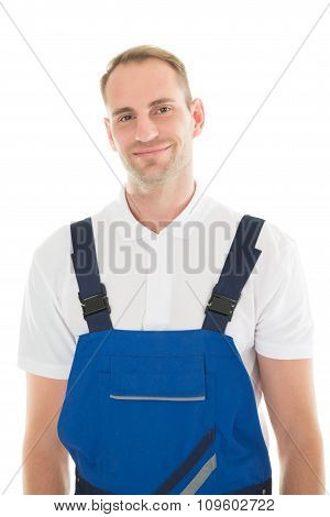 Portrait Of Smiling Male Janitor