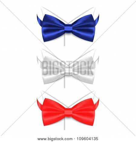 Set of colored bow ties