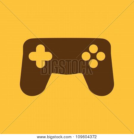 The gamepad icon. Game symbol. Flat