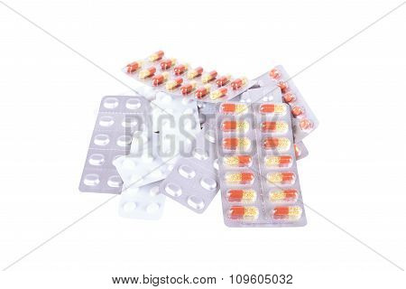 Medicines Isolated On White
