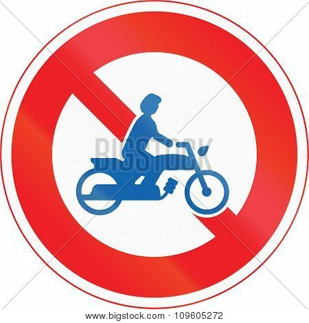 Japanese Road Sign - No Thoroughfare For Motorcycles