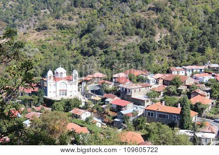 The mountain settlement, Troodos Mountains, Cyprus.