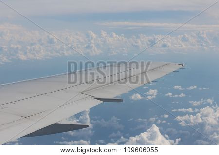 Airplane wing.
