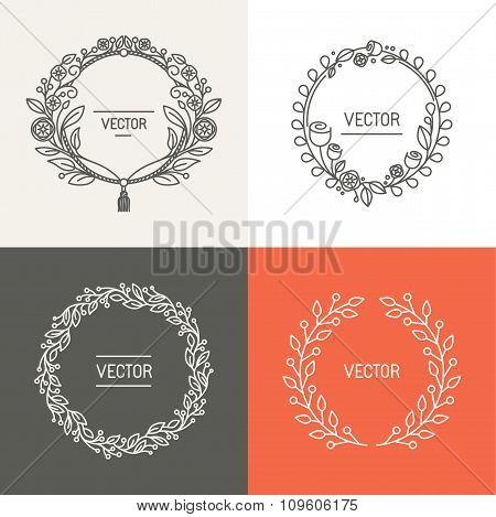 Vector Abstract Logo Design Templates With Copy Space