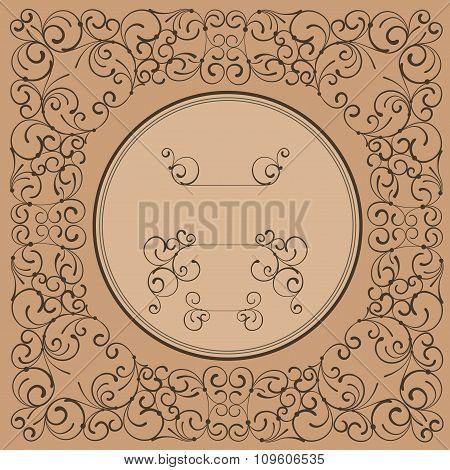Floral elegant vintage label decor