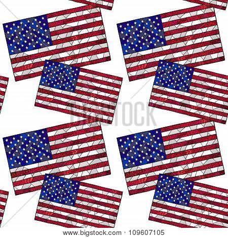 United States Flag Zentangle Pattern 1