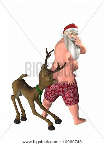 Pulling Down Santa's Trunks