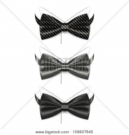 Set of black bow ties