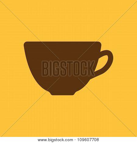 The cup icon. Tea symbol. Flat