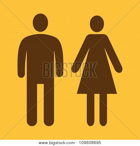 The man and woman icon. Family symbol. Flat