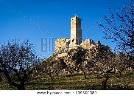 Ruins Of The Castle At Beniloba, Valencia Y Murcia, Spain