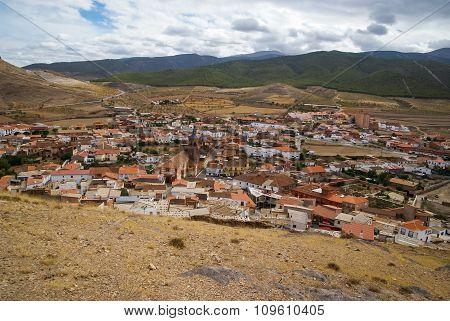 Cityscape At  Lacalaora, Granada, Andalusia, Spain